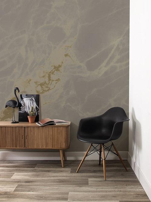 Goud behang Marmer - GRIJS - MW-052