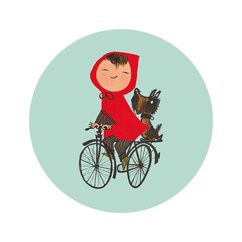Op de fiets - behangcirkel - SC-027