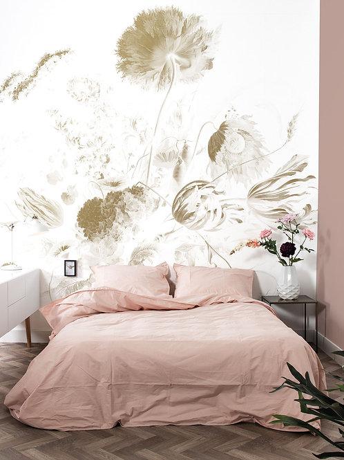 Goud behang Golden Age Flowers - MW-049