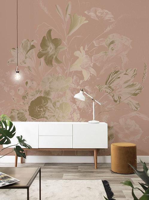Goud behang Golden Age Flowers - MW-046