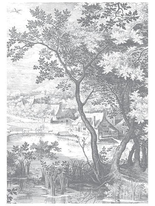 Fotobehang Engraved Landscapes ll - WP-619