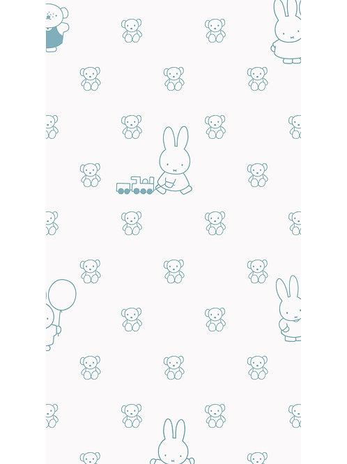 Nijntje behang met beren - BLAUW - WP-507