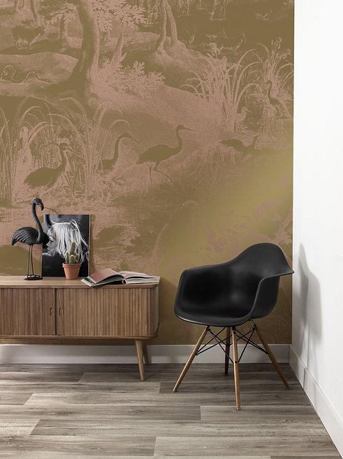 Goud behang Engraved Landscapes -  MW-037
