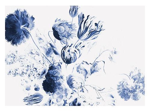 Fotobehang Royal Blue Flowers ll - WP-224