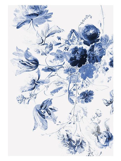 Fotobehang Royal Blue Flowers lll - WP-209