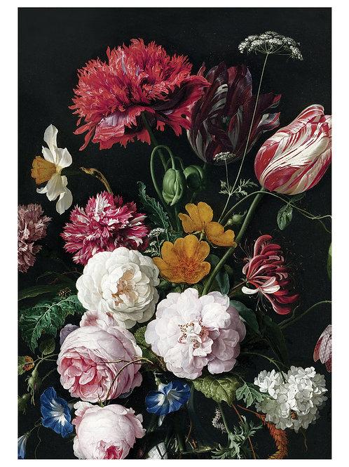 Fotobehang Golden Age Flowers - WP-201