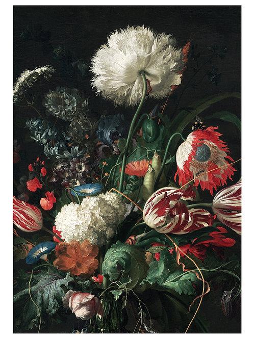 Fotobehang Golden Age Flowers - WP-200