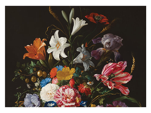 Fotobehang Golden Age Flowers - WP-233