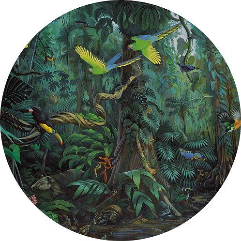 Tropisch landschap - behangcirkel - CK-022