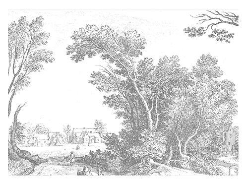 Fotobehang Engraved Landscapes V - WP-326