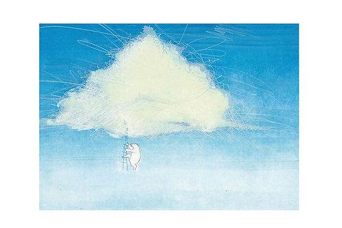Fotobehang Wolken met IJsbeer - WS-009