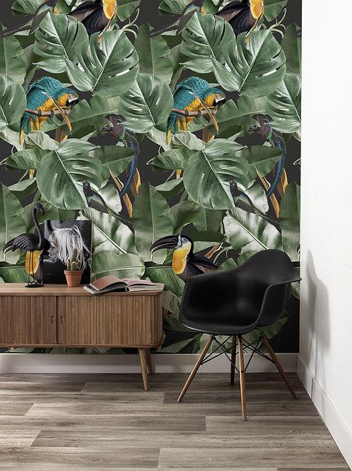 Botanical birds behang - WP-579