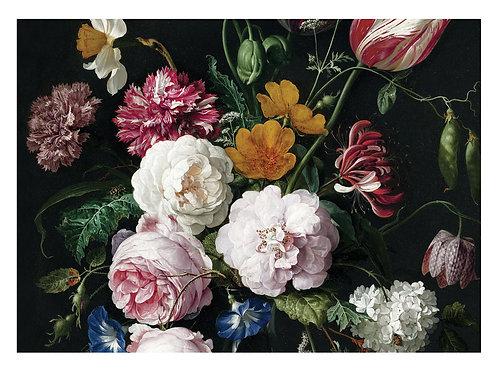 Fotobehang Golden Age Flowers - WP-222