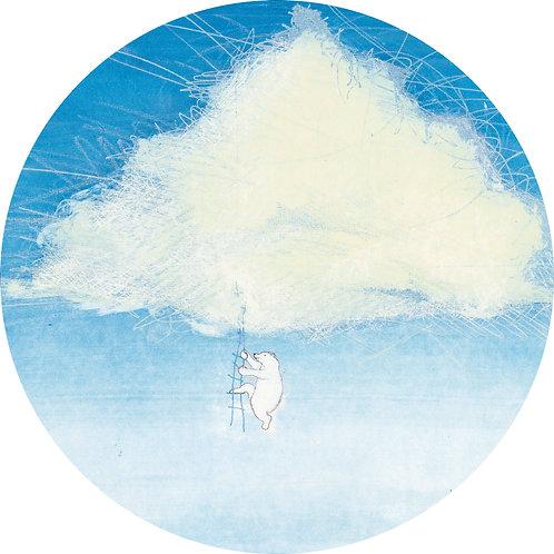 Wolken met IJsbeer - behangcirkel - CK-043