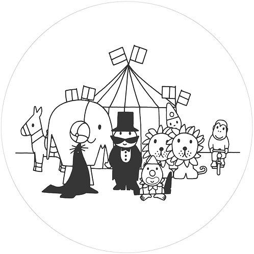 Nijntje met het circus - behangcirkel - CK-029