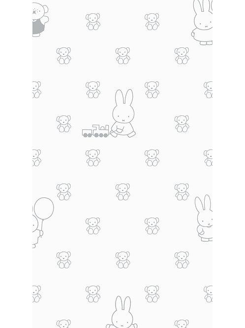 Nijntje behang met beren - GRIJS - WP-508