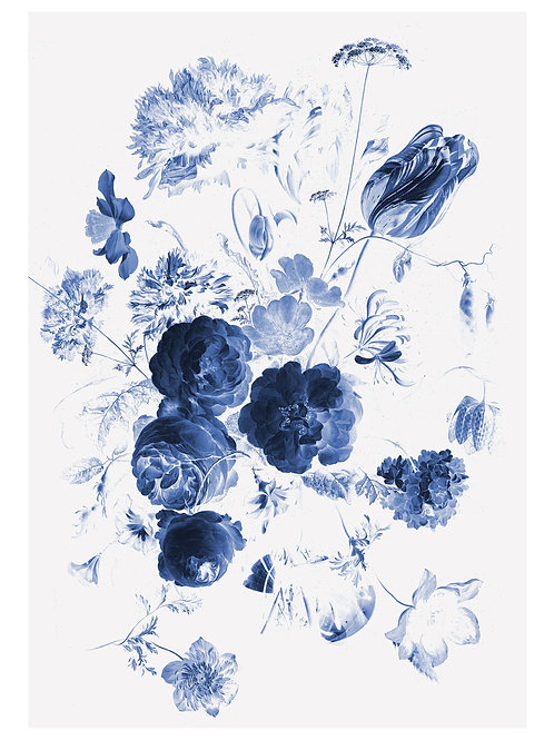 Fotobehang Royal Blue Flowers l - WP-207