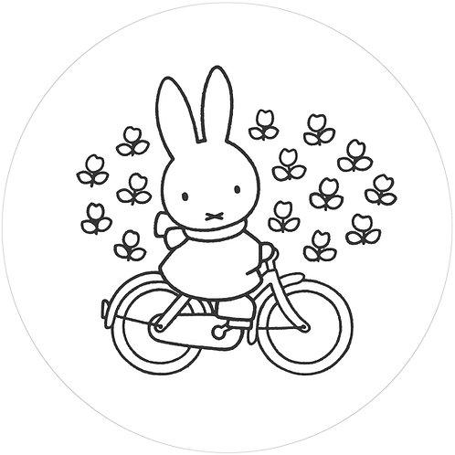 Nijntje op de fiets - behangcirkel - CK-030