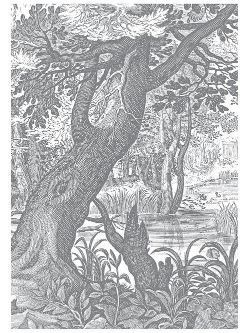 Fotobehang Engraved Landscapes lll - WP-615