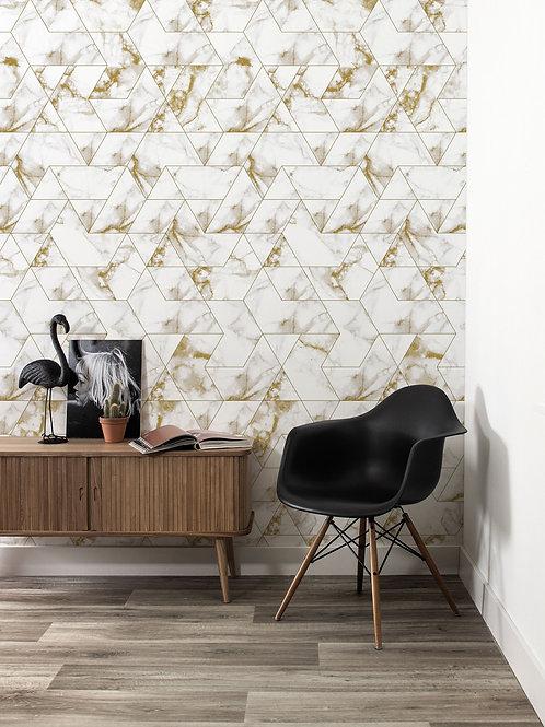 Marble mosaic behang - GOUD - WP-576