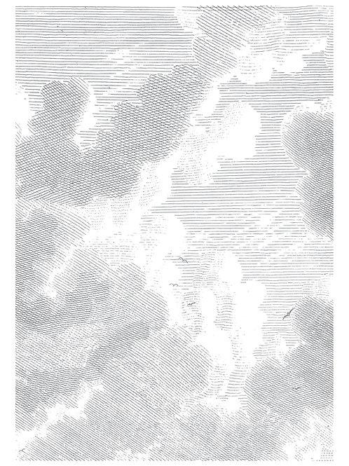 Fotobehang Engraved Clouds ll - WP-621