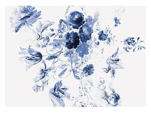 Fotobehang Royal Blue Flowers lll - WP-225