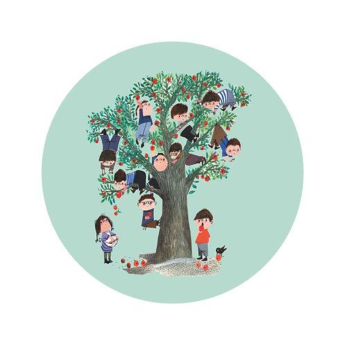Appelboom - behangcirkel - SC-016