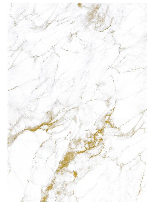 Fotobehang Marble - WIT / GOUD - WP-554