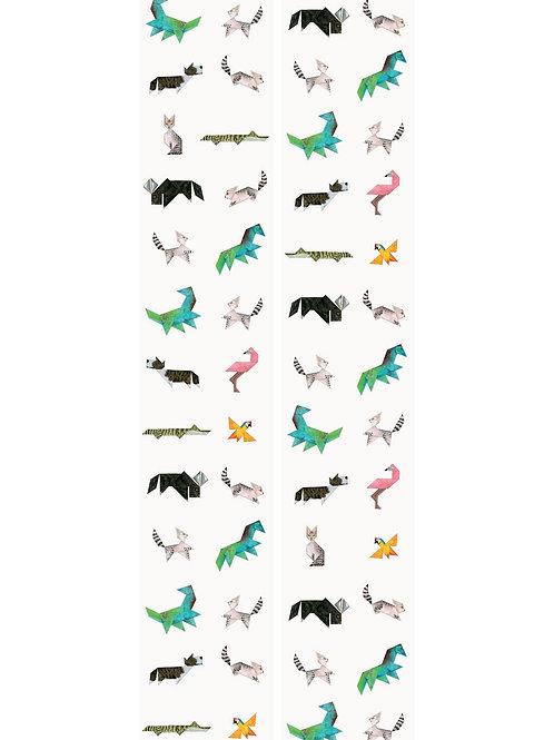 Tangram dieren behang - WP-421