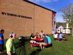 Filming at PHS photo