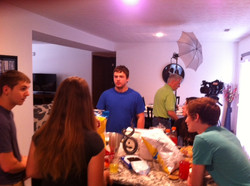 Filming RX PSA at my house photo