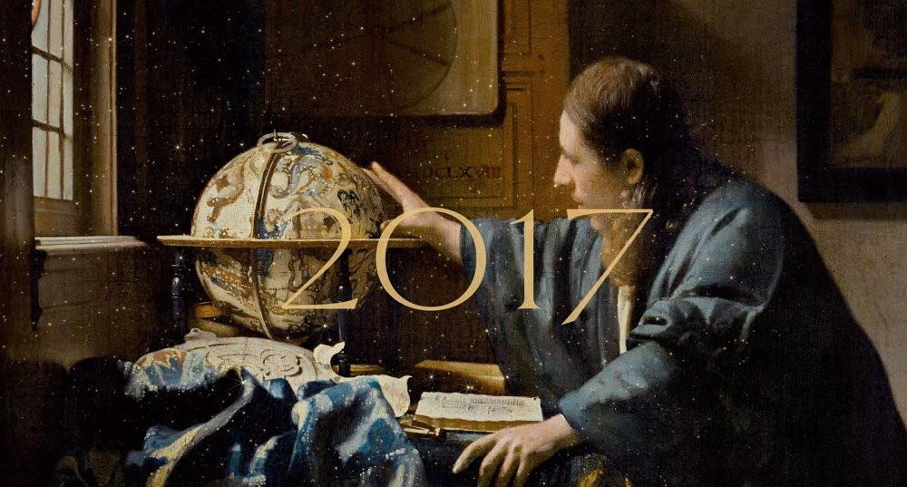 carte de vœux du musée du Louvre tirée de l'œuvre de Veermer