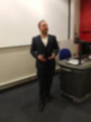 Dr Penn giving a workshop