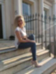 Eliana on the steps