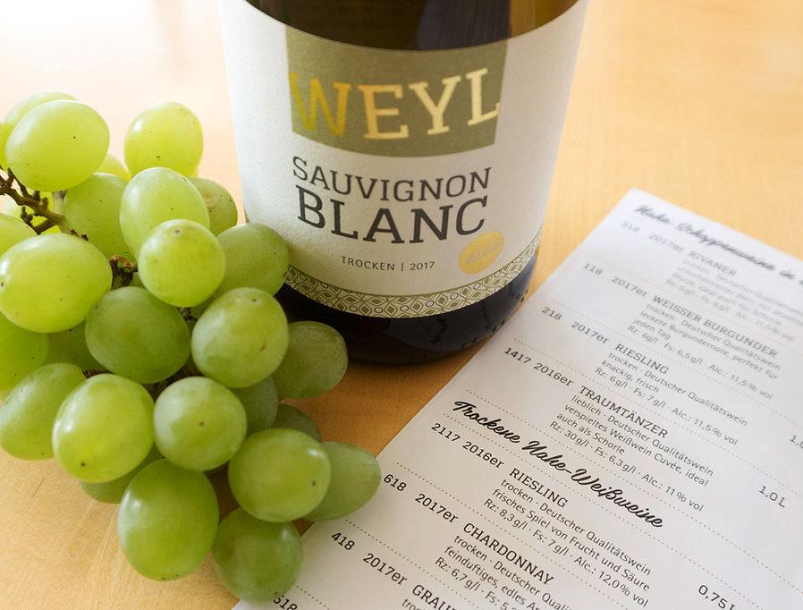 Weinkarte Weingut Weyl