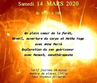 .............stage yoga et son le samedi 14 mars .................Allaire du Ty Groin de Paradis....