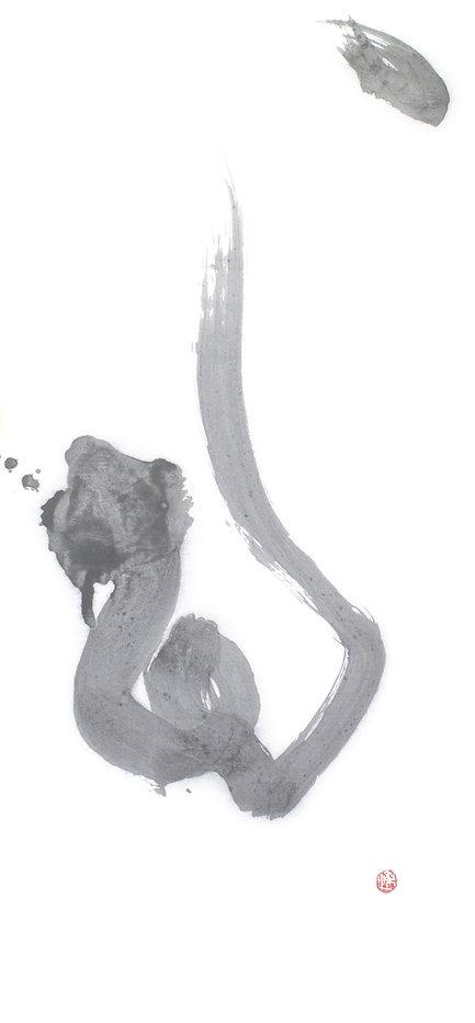 女性書道家西川梨世Risei Nishikawaのアート楽書道作品