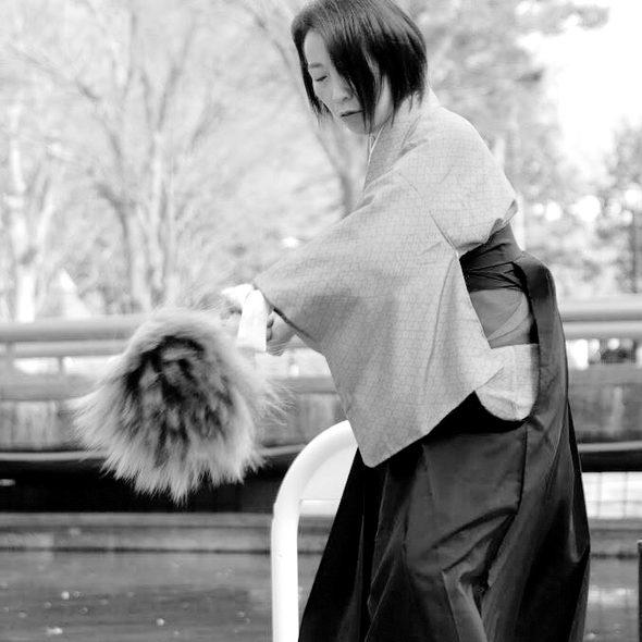女性書道家集団、無限未来のアート書道パフォーマンス熊谷雲炎