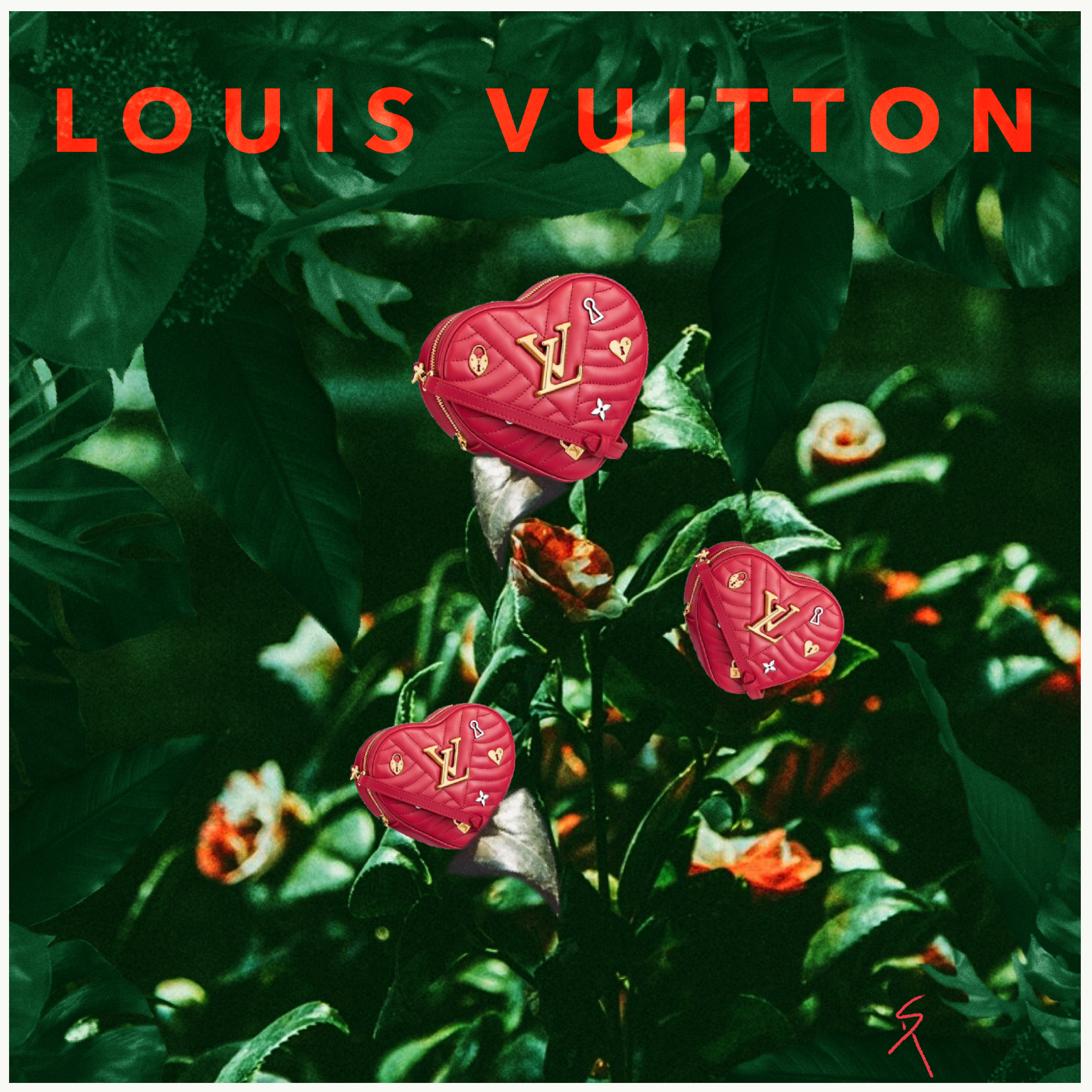 Louis Vuitton Collage
