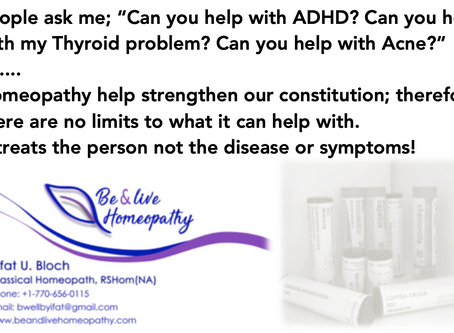 What homeopathy can help with?