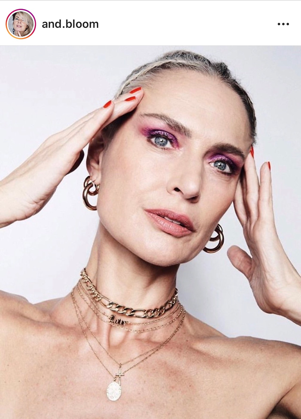 how to create a pink eyeshadow look mature woman