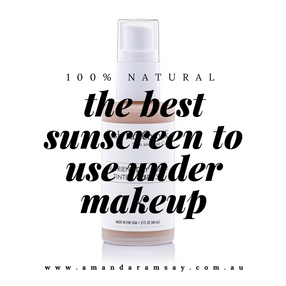 The best 100% natural sunscreen to use under makeup.