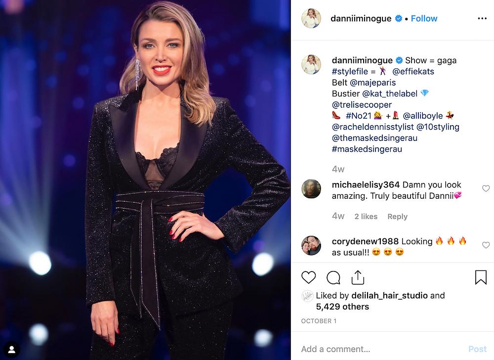 Dannii Minogue red lip