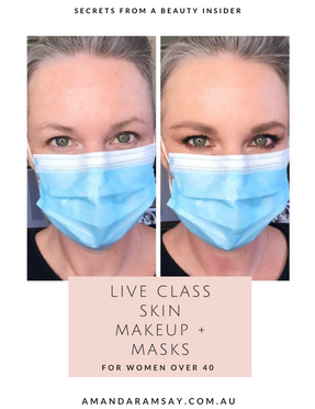How to wear makeup while rocking a face mask.