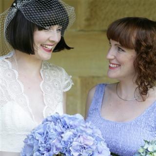 Bride and her chief bridesmaid