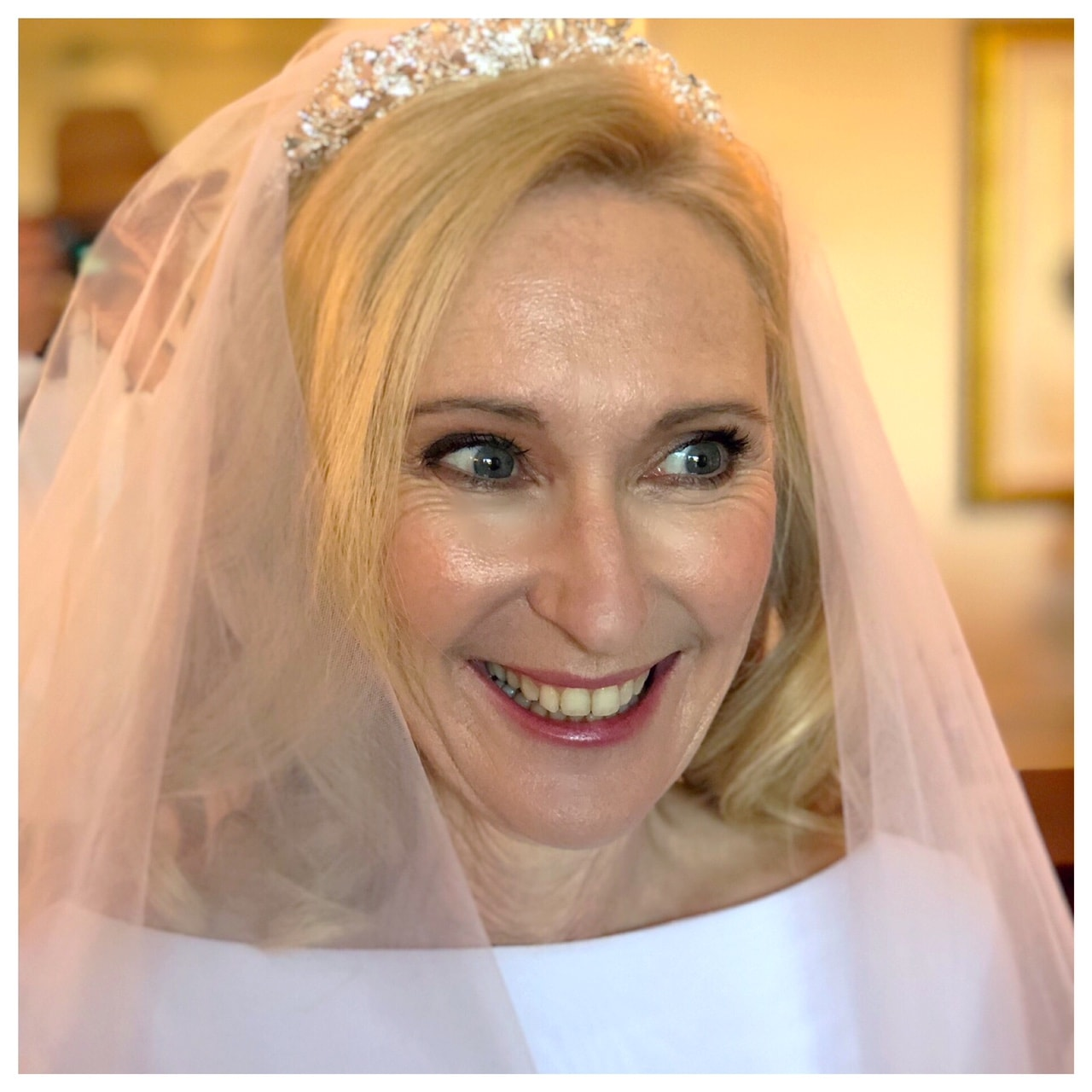 makeup on mature bride