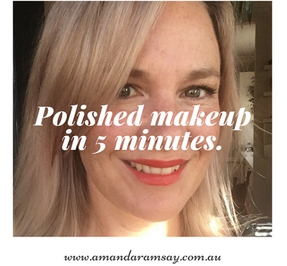 How to do makeup in minutes and look polished.