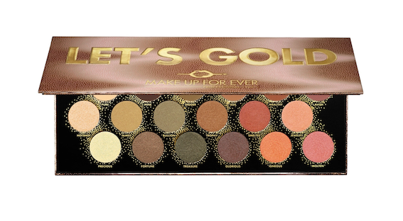 Make Up Forever Let's Gold eyeshadow palette for over 40