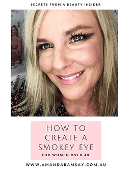 Amanda Ramsay Makeup Smokey Eye Guide-Fr