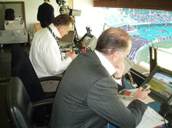 AFL Commentary box - birds eye view